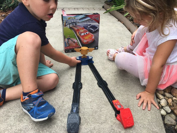 Kids Playing Cars 3 Piston Cup Showdown