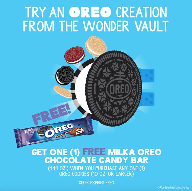 Get a Free MILKA OREO Candy Bar at Kroger
