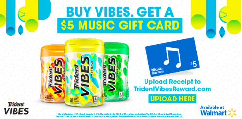 Free iTunes Gift Card with Trident Vibes Purchase