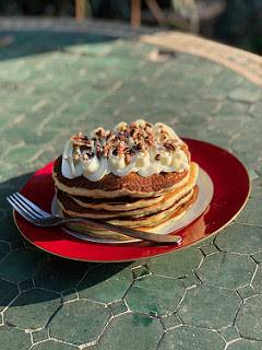 Amazing Cheesecake Pancakes recipe with Pecans