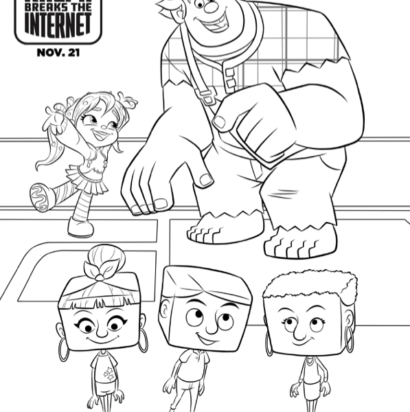 FREE Wreck it Ralph Coloring Pages & Games (Ralph Breaks the Internet)