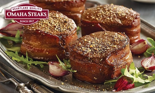 Save over 50% on Omaha Steaks