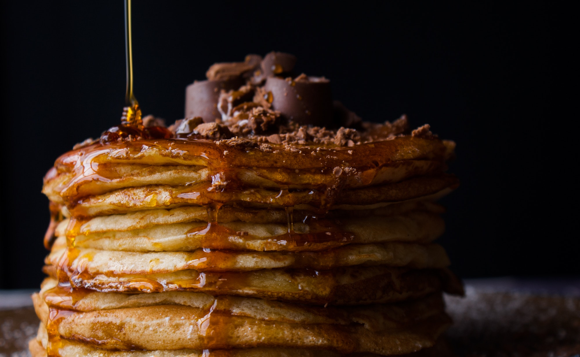 chocolate keto pancakes