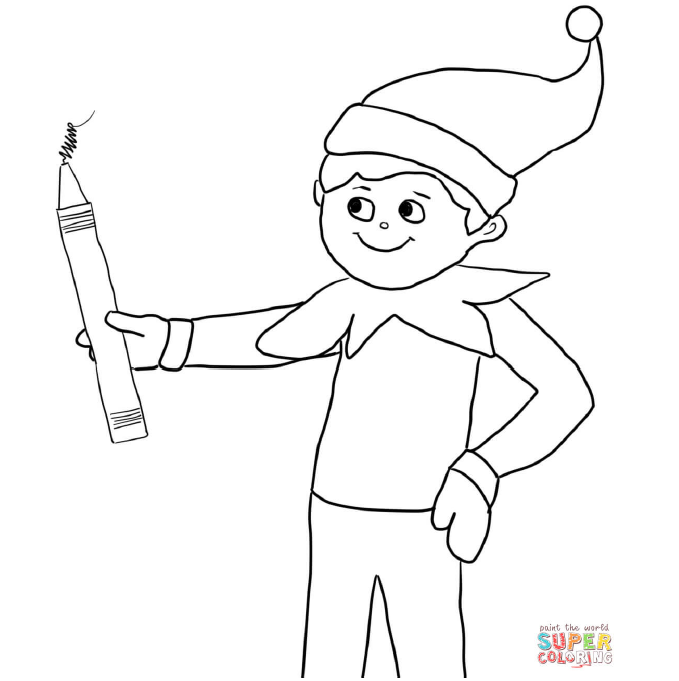 - Elf On The Shelf Coloring Pages -