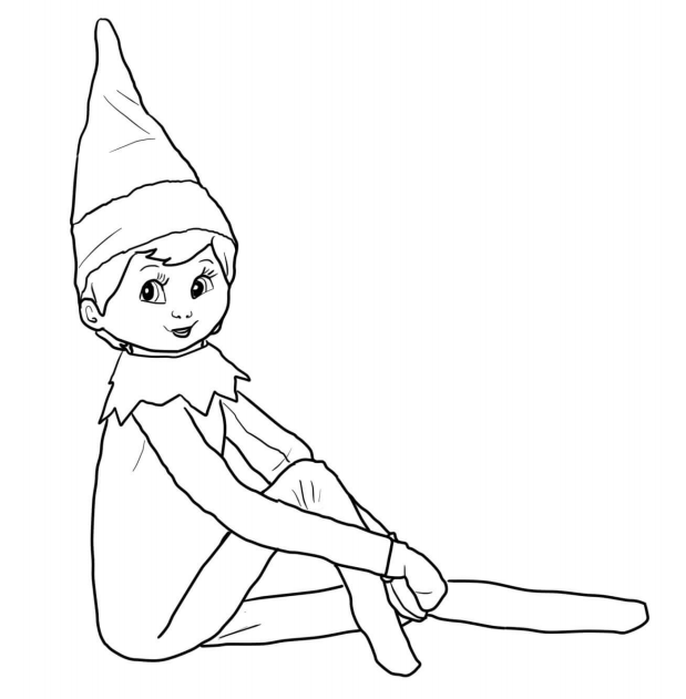 "Elf on the Shelf Coloring Pages - ""Deal""icious Mom"